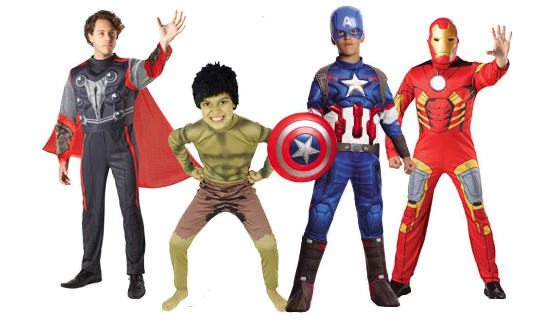 Capitan Marvel Y Los Falsos Vengadores Todo Lo Que: Disfraces De Los Vengadores ¡Saca El Superhéroe Que Hay En Ti