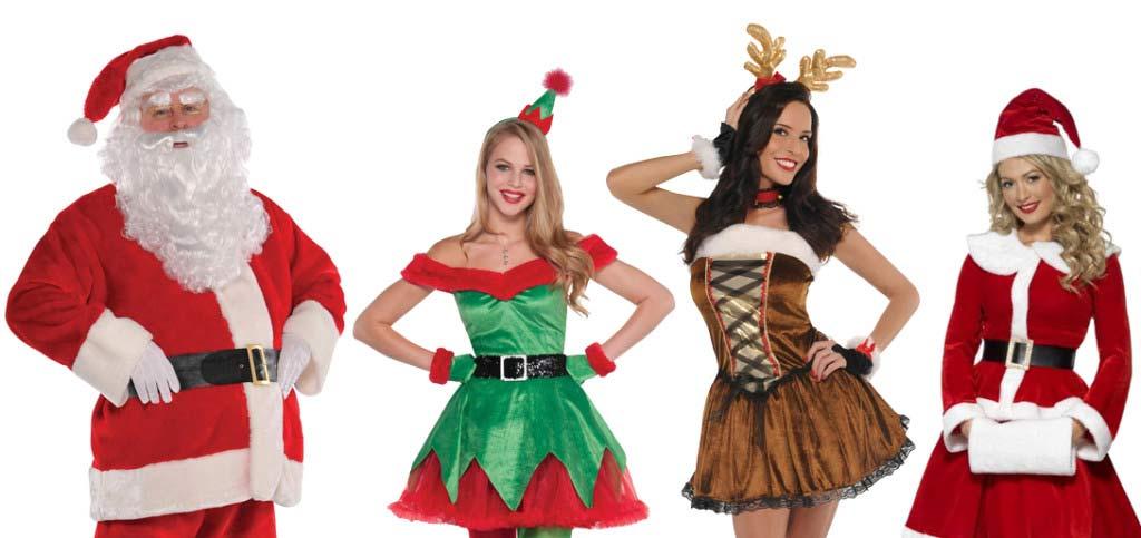 La familia claus al completo disfraces de pap y mam - Disfraces para navidad ninos ...