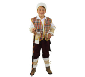 Disfraz Pastor ocre rústico para niño
