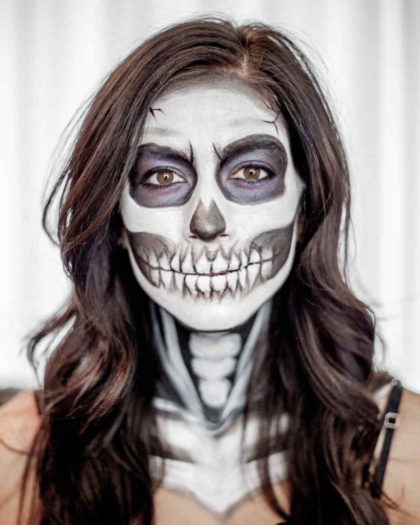 Como Pintar La Cara De Esqueleto Para Halloween Blog De Disfrazzes - Maquillaje-profesional-halloween